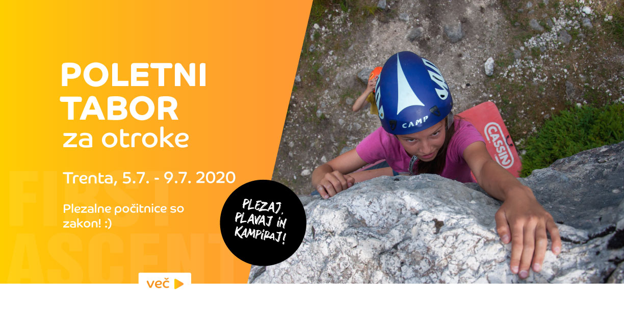 First ascent - Poletni tabor Trenta 2020