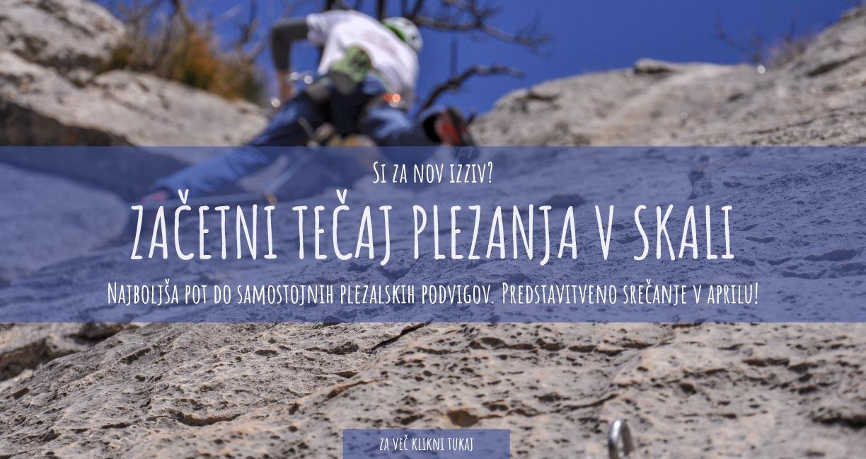First ascent - Zacetni tečaj plezanja v skali 2020
